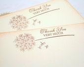 Wedding Thank You Cards / Stationery Set Vintage Dandelion Wedding Baby Shower