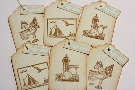 Gift Tags - Discover the Seaside - Lighthouses and Sailboats