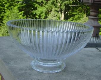 Mid Century Modern Ribbed Bowl