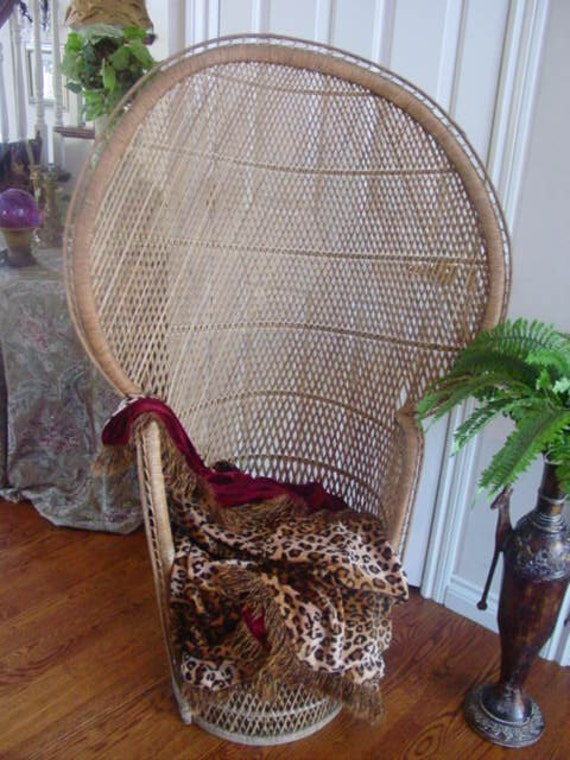 Rattan Mid Century Modern Peacock Chair Reduced By Serenities