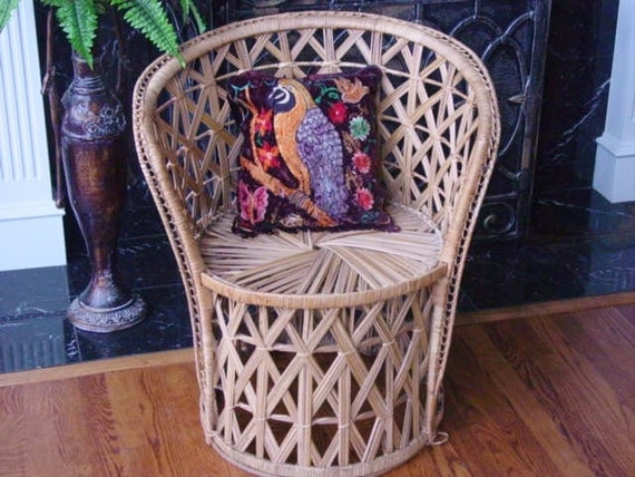 Mid Century Ladies Size Rattan Princess Chair REDUCED