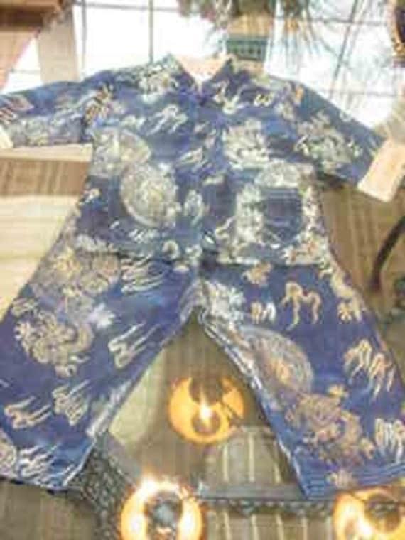 Vintage Toddler's Oriental Jacket & Pants.  Cute costume too