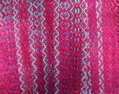 Magenta, blue and purple handwoven scarf