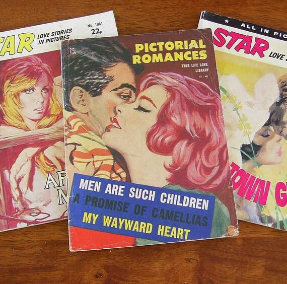 3 Vintage 1970's Romance Comics