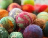 Felted Bouncing Balls - Set of three