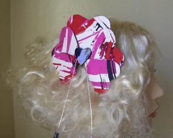 Punk Silk Heart Hair Fascinator - Ready to ship