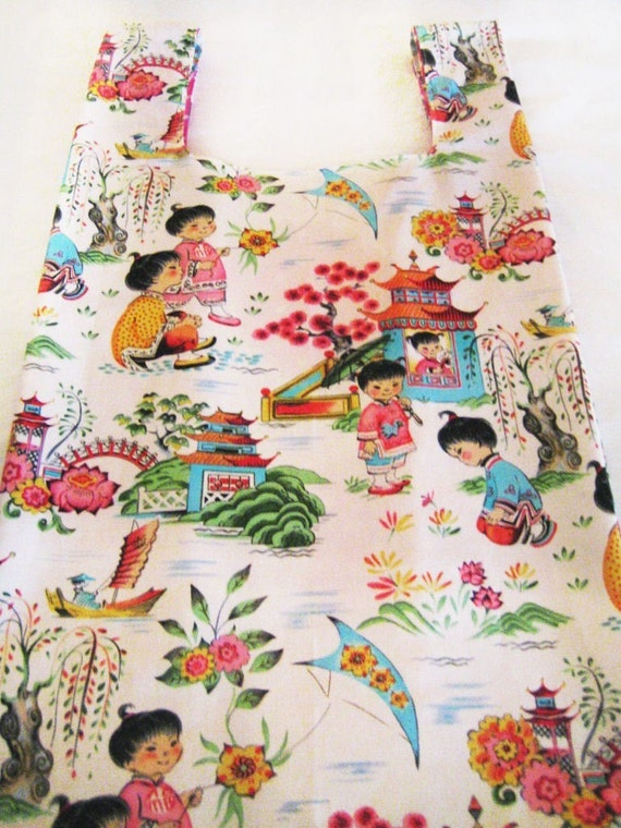 Reusable Chinese Kids Fabric Grocery bag