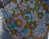 Edie- Reversible Jack Kerouac \/ 70s- style print sling bag