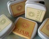pill box with vintage prescription label