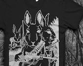 Rabbits with Guns  Mens Softstyle Tshirt
