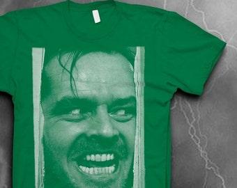 The Shining T-shirt Mens Softstyle t-shirt Here's Johnny tshirt