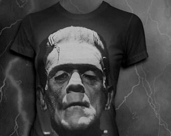 Frankenstein t-shirt Softstyle Horror Movie tshirt Womens tshirt