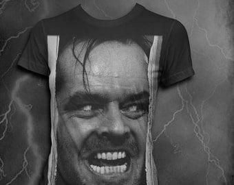 The Shining T-shirt Womens Softstyle t-shirt Here's Johnny tshirt