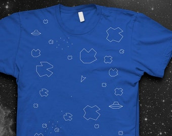 Atari Asteroids T-shirt Mens shirt Atari Tshirt Video game shirt