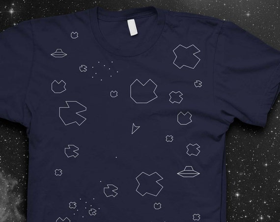 Atari Asteroids T-shirt Video game tshirt Atari Tshirt Mens shirt