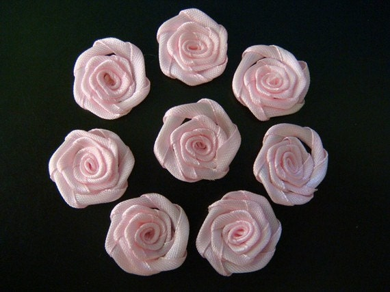 """Reserved For Creationsbym2 ---- 1"""" Ribbon Roses 20 pcs"""