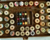 Great Vintage Box full of Sewing Thread