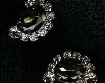 Glitzy AB Clip Earrings