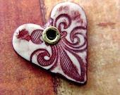 Hope Heart Fleur de Lys Sable
