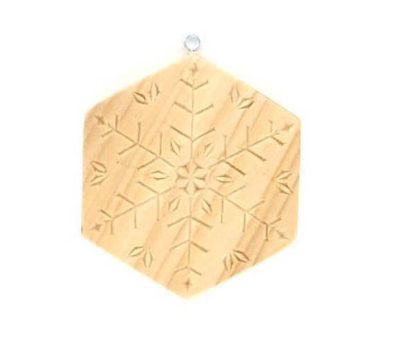 Handmade wood christmas ornament chip carved