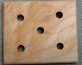 Maple five-hole plying template for spinners (No. 5)