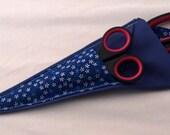 Blue flowers scissors case - protect your points