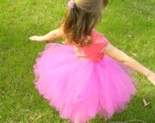 Hot Pink Tutu With Removable Bow -Size 4 to 6x