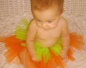 Tiny Baby Pumpkin TuTu - Can be Made in Other Sizes Too