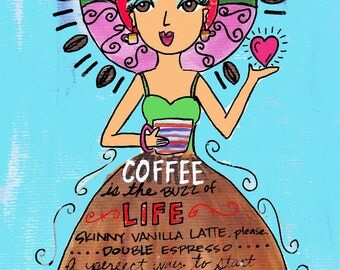 AFFIRMATION PRINT: Coffee Time
