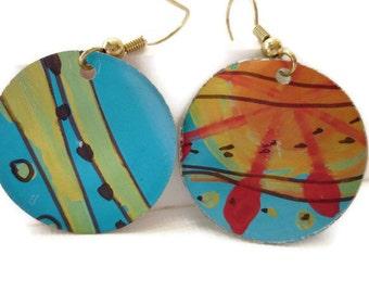Summer colours aluminium earrings