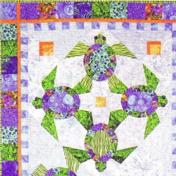 Quilt Patterns With Turtles : Sea Turtle Lap Quilt Pattern