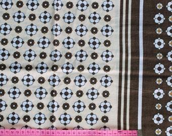Seventies vintage fabric - 130x130 cm.