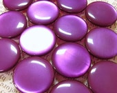 Vintage Buttons - Set of 9 - Purple Spun Nylon Iridescent Glossy