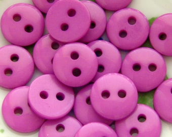 Tiny Purple Buttons 9mm - Set of 20 - Small Light Purple Plastic Buttons