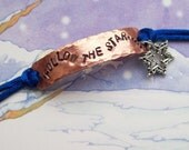 FOLLOW THE STAR - Nativity hand stamped copper bracelet