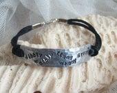 WiBbLy WoBbLy TiMeY WiMeY STUFF - hand-stamped aluminium bracelet
