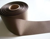 Brown Grosgrain Ribbon 2 1/4 inches wide x 15 yards, Wide Brown Ribbon, 50% Off Sale