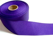 Wide Purple Ribbon, Purple Grosgrain Ribbon 2 1/4 inches wide x 4 yards