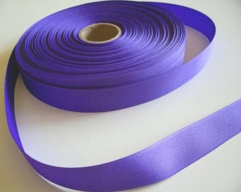 Purple Ribbon, Grape Purple Grosgrain Ribbon 1 inch wide x 9 yards, 50% Off Sale