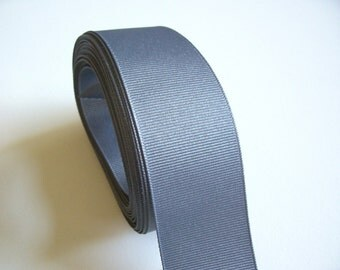 Gray Ribbon, Charcoal Gray Grosgrain Ribbon 1 1/2 inches wide x 10 yards, Offray Pewter Grosgrain Ribbon