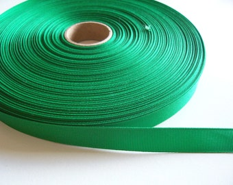 Green Ribbon, Kelly Green Grosgrain Ribbon 5/8 inch wide x 10 yards, Offray Ribbon