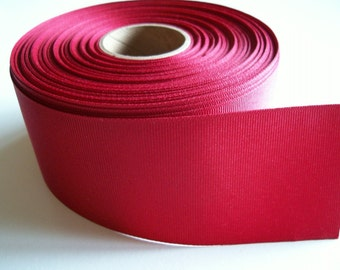 Wide Red Ribbon, Light Burgundy Red Grosgrain Ribbon 2 1/4 inches wide x 9 yards, 50% Off Sale
