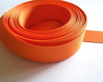Orange Ribbon, Orange Grosgrain Ribbon 7/8 inch wide x 10 yards