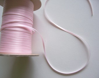 Baby Pink Ribbon, Double-Sided Baby Pink Satin Ribbon 1/8 inch wide x 10 yards, Offray Powder Pink