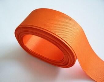 Orange Ribbon, Orange Grosgrain Ribbon 1 1/2 inches wide x 10 yards, Offray Torrid Orange Ribbon