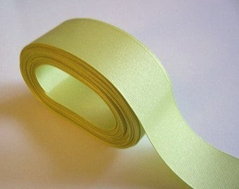 Green Ribbon, Lime Green Grosgrain Ribbon 1 1/2 inches wide x 10 yards