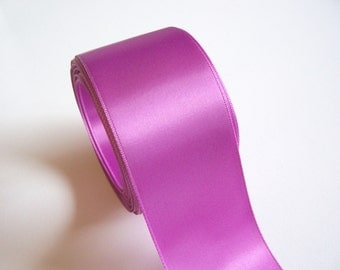 Wide Purple Ribbon, Double-Faced Offray Spring Orchid Purple Satin Ribbon 2 1/4 inches wide x 10 yards