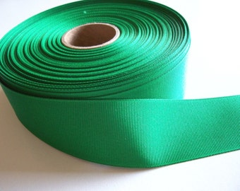 Green Ribbon, Kelly Green Grosgrain Ribbon 1 1/2 inches wide x 10 yards