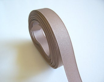Beige Ribbon, Sand Beige Grosgrain Ribbon 5/8 inch wide x 5 yards