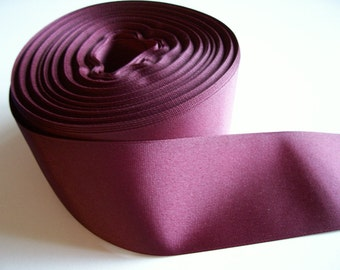 Dark Burgundy Ribbon, Wine Grosgrain Ribbon 2 1/4 inches wide x 6 yards, SECOND QUALITY FLAWED